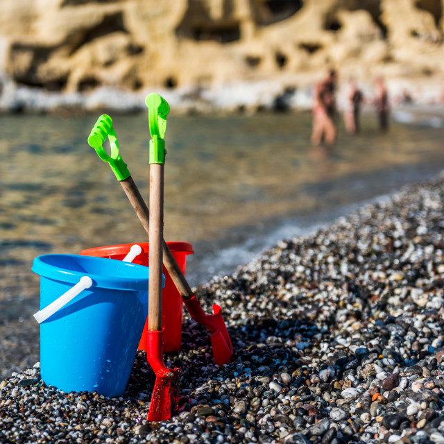 """Children beach toys"" stock image"