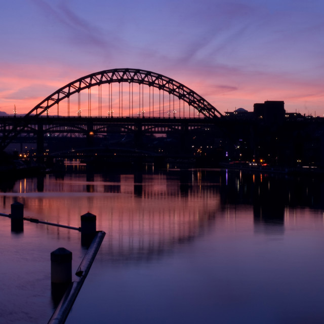 """""""The Mighty Tyne in Autumn"""" stock image"""