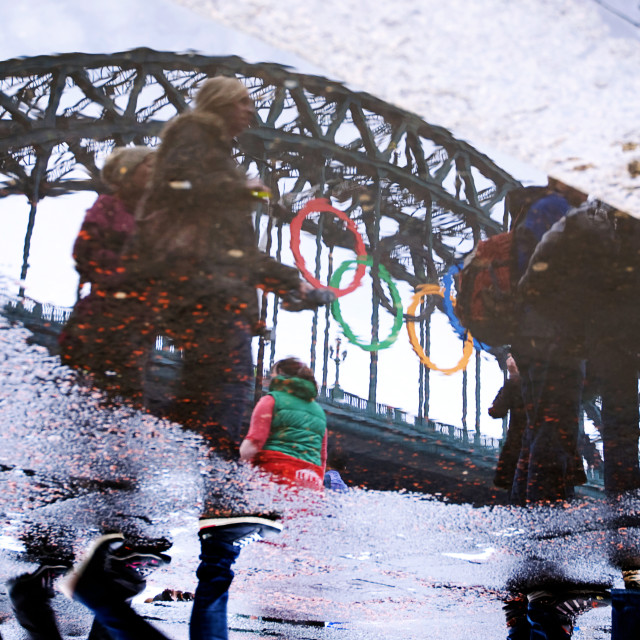 """""""Olympic Reflections"""" stock image"""