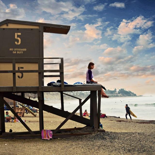 """Lifeguard Tower Nr 5"" stock image"