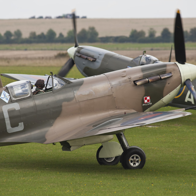 """""""Two Spitfires"""" stock image"""