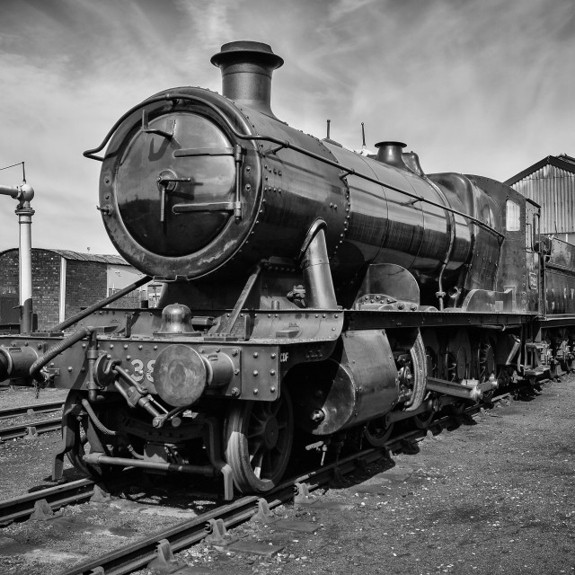 """GWR 2-8-0 Class 2884 No. 3822"" stock image"