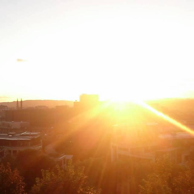 """Sunset at Calton Hill, Edinburgh"" stock image"
