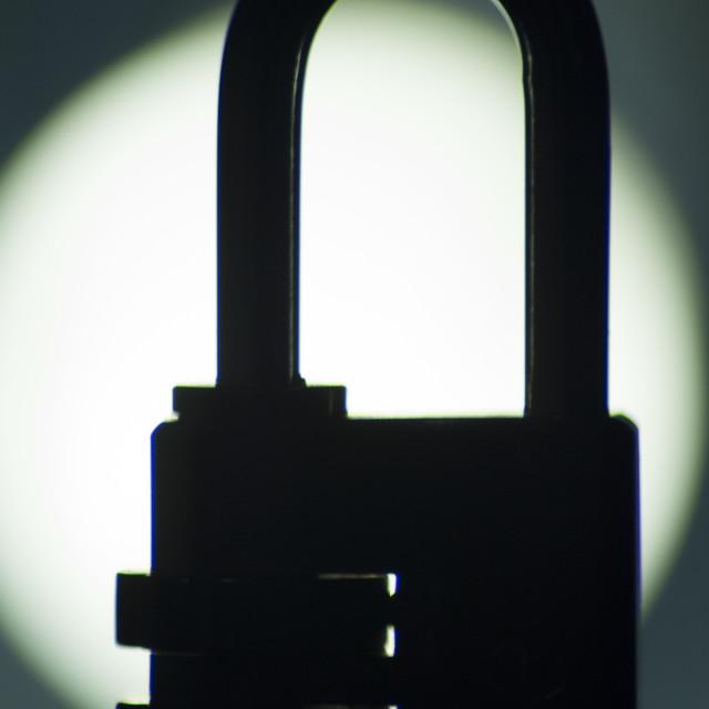 """Combination code padlock silhouette"" stock image"