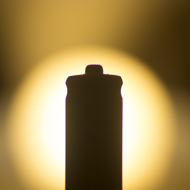 """AAA Battery silhouette"" stock image"