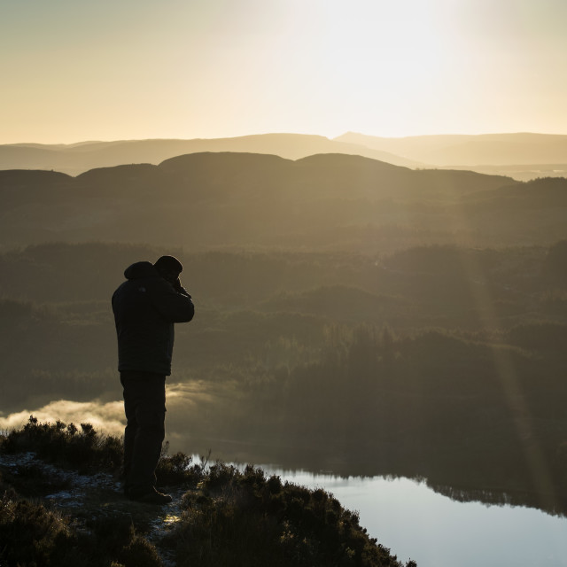 """On the top of Ben A'Ag, Trossachs"" stock image"
