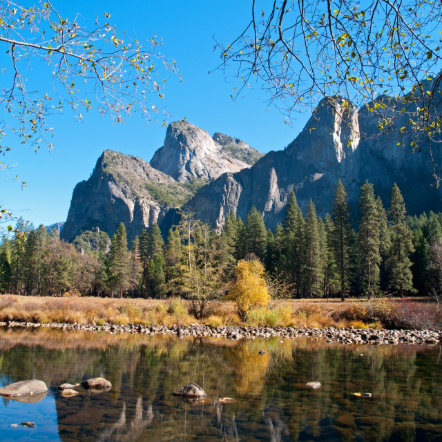 """Valley View of Yosemite"" stock image"