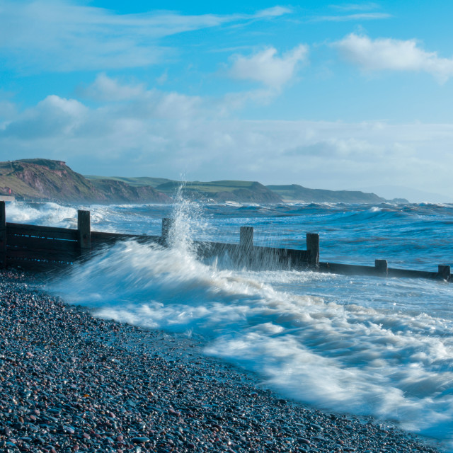 """St Bees Beach, Cumbria"" stock image"
