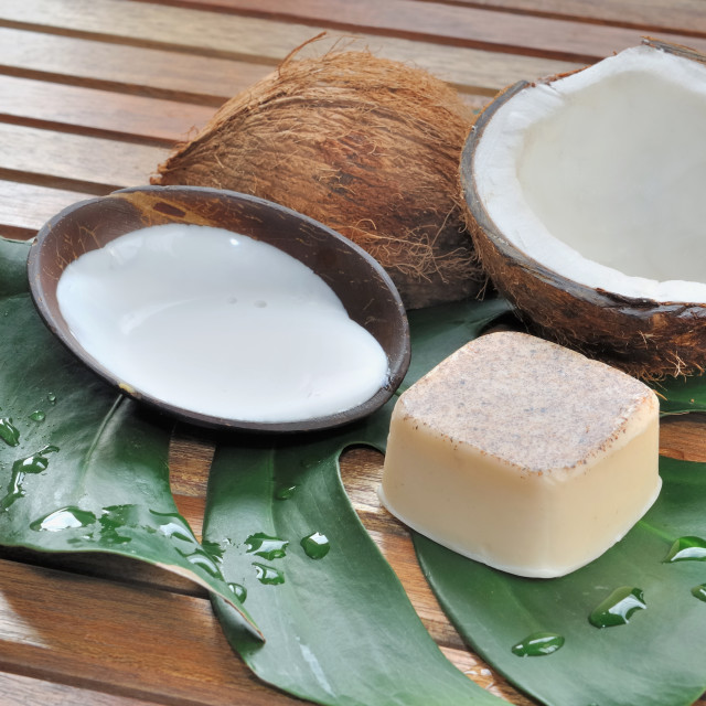 """soap coconut"" stock image"