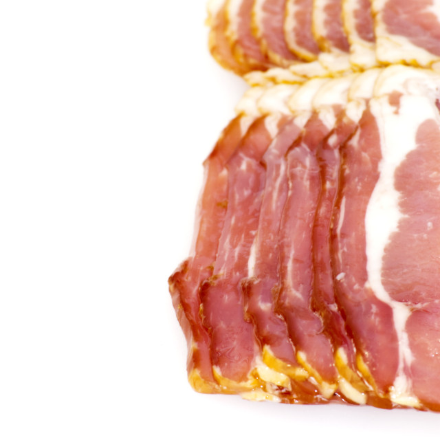 """Slices of bacon"" stock image"