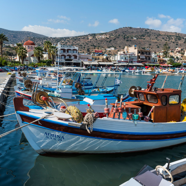 """Elounda Harbour"" stock image"