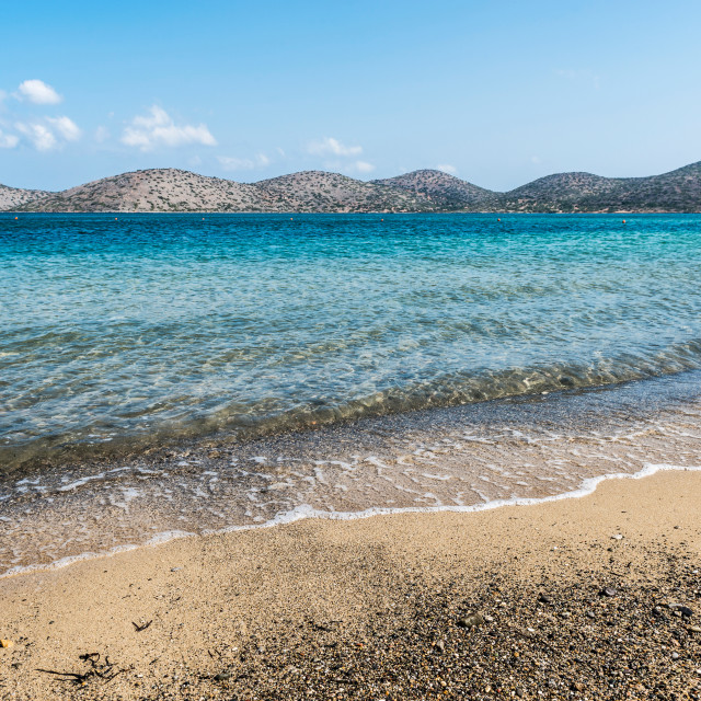 """Elounda Beach"" stock image"