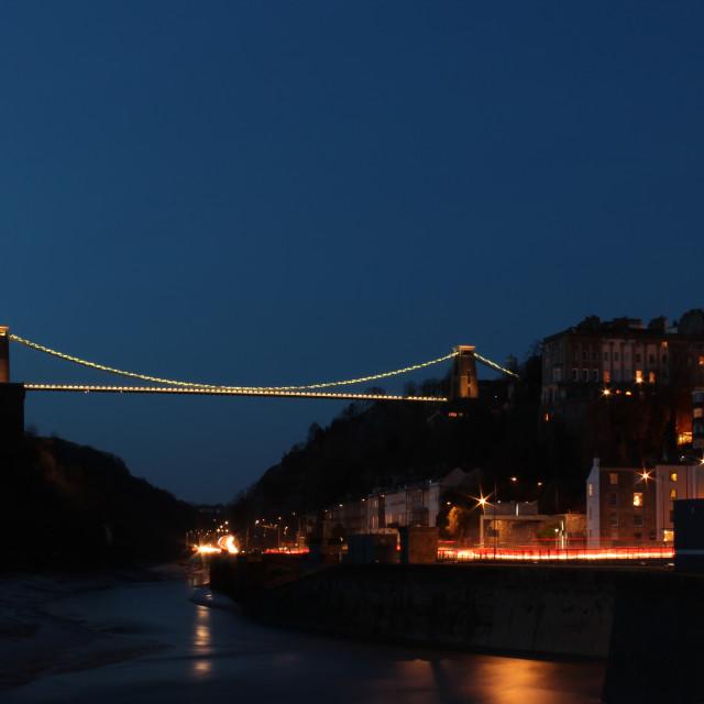 """Brunels Bridge"" stock image"