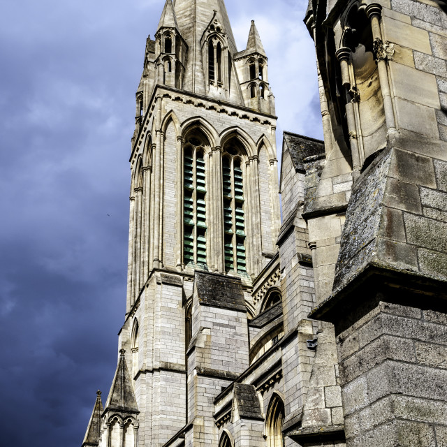 """Truro Cathedral Tower"" stock image"