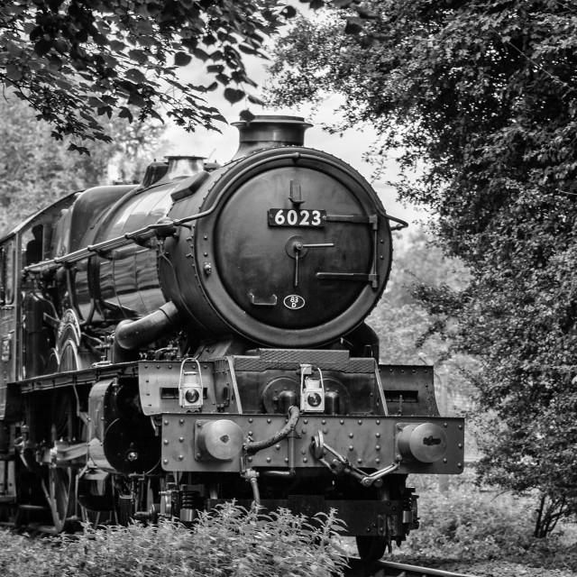 """GWR King Class No. 6023 King Edward II"" stock image"