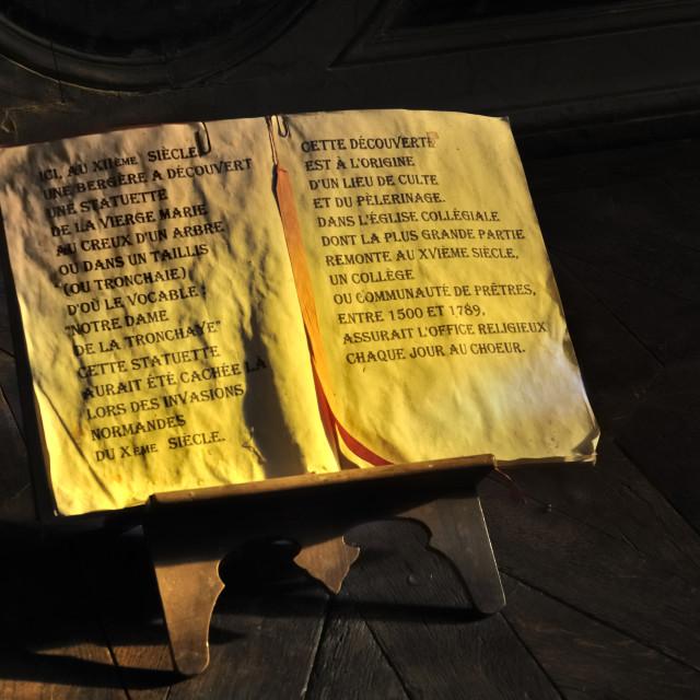 """manuscript on wooden easel"" stock image"