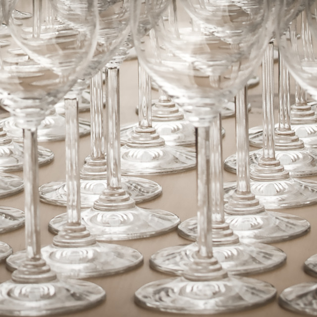 """Wine glass patterns"" stock image"