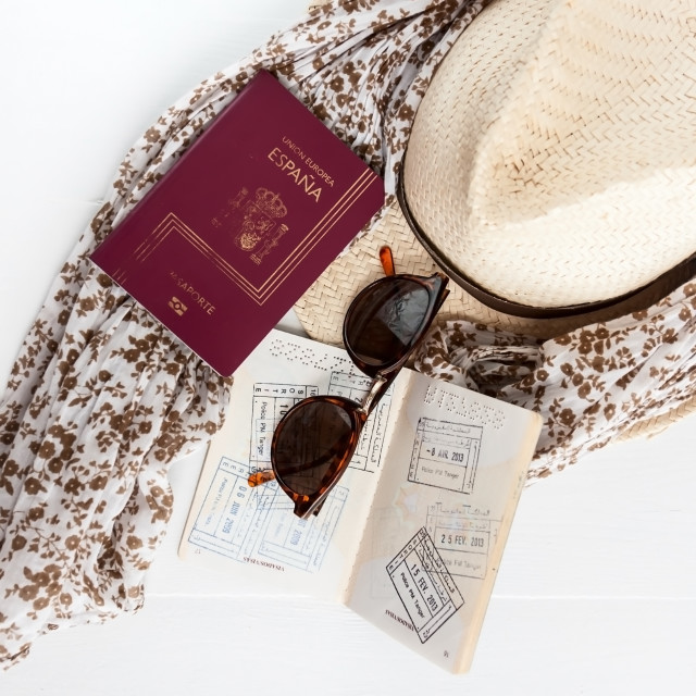 """""""Travel things"""" stock image"""