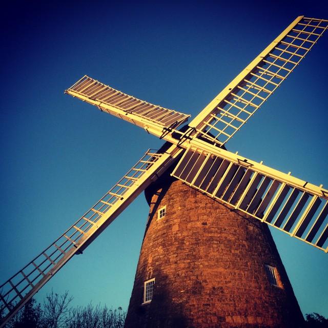 """Bradwell Mill"" stock image"