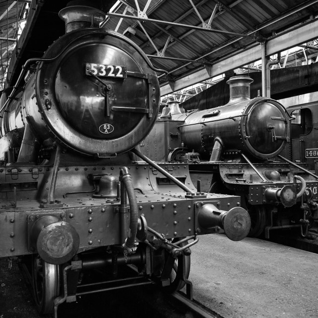 """GWR 2-6-0 Class 43XX No. 5322"" stock image"