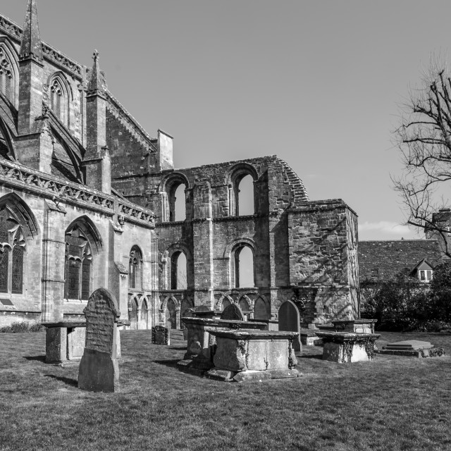 """Malmesbury Abbey eastern end"" stock image"