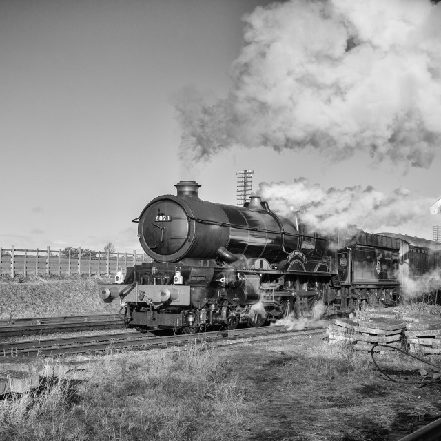 """GWR King Class No. 6023 King Edward II"" stock image"