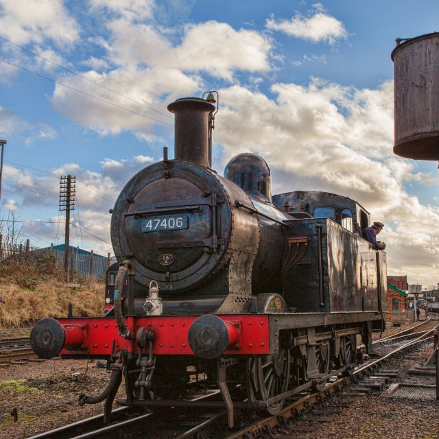 """Class 3F , Jinty , No 47406"" stock image"