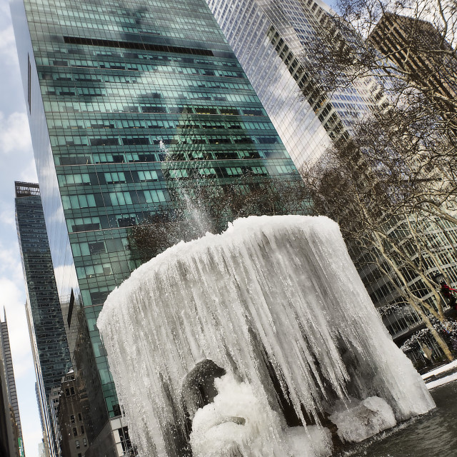 """Frozen Fountain"" stock image"