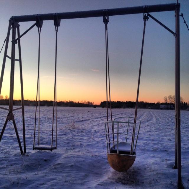 """The Loneliest Playground"" stock image"
