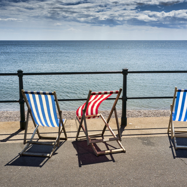 """Empty Deckchairs"" stock image"