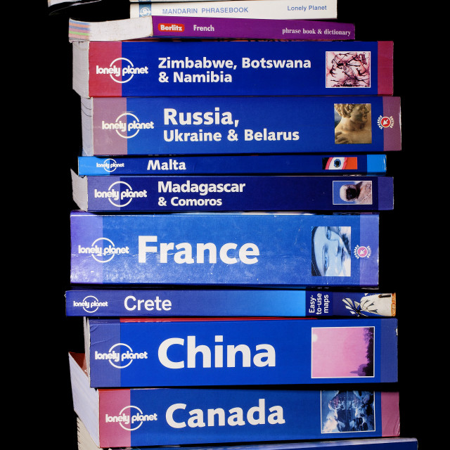 """""""Travel Guide books"""" stock image"""