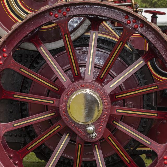 """Traction Engine Wheel"" stock image"