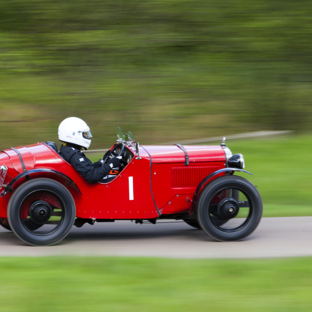 """Red open top Racing car"" stock image"