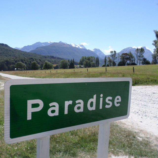 """The road to Paradise"" stock image"