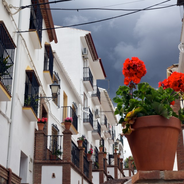 """andalusien houses"" stock image"