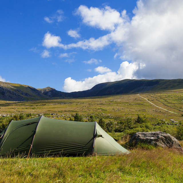 """Wild camping"" stock image"