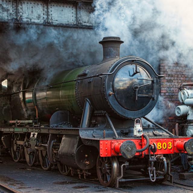 """GWR 2-8-0 No. 3803"" stock image"