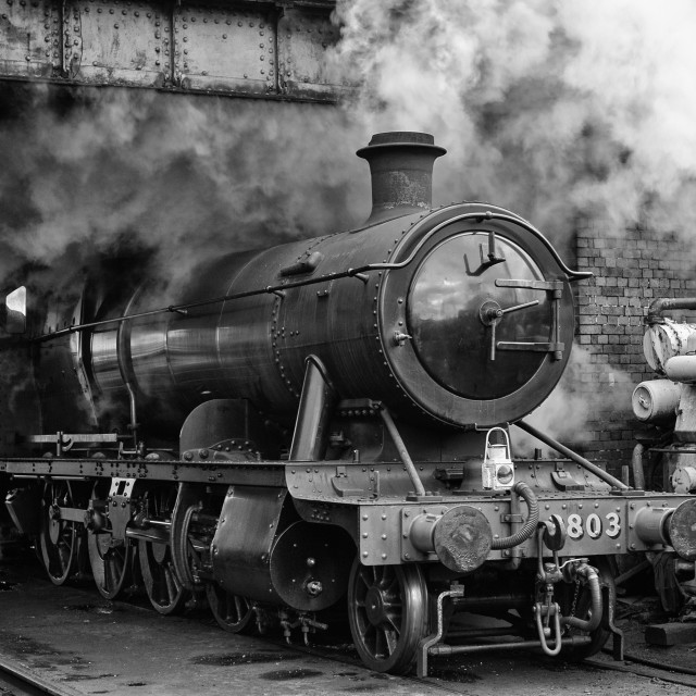 """GWR 2-8-0 No. 3803"" stock image"