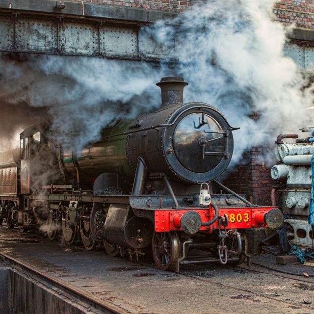 """GWR 2-8-0 No. 3803 a"" stock image"