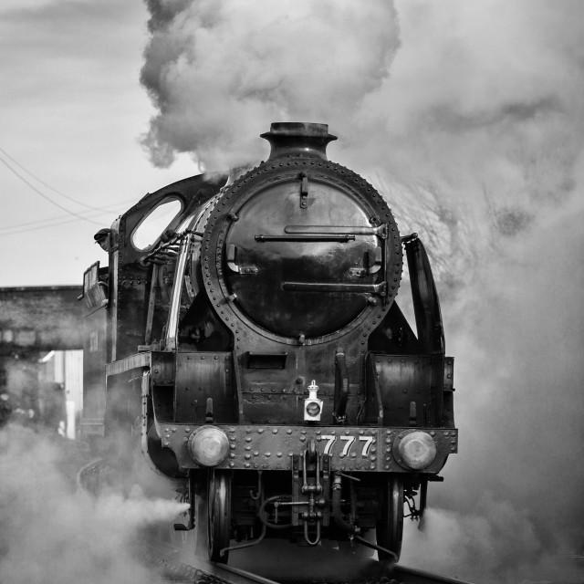 """""""King Arthur Class No. 777 Sir Lamiel"""" stock image"""