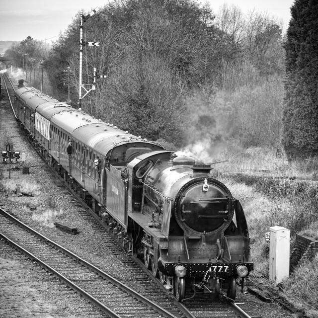 """King Arthur Class No. 777"" stock image"