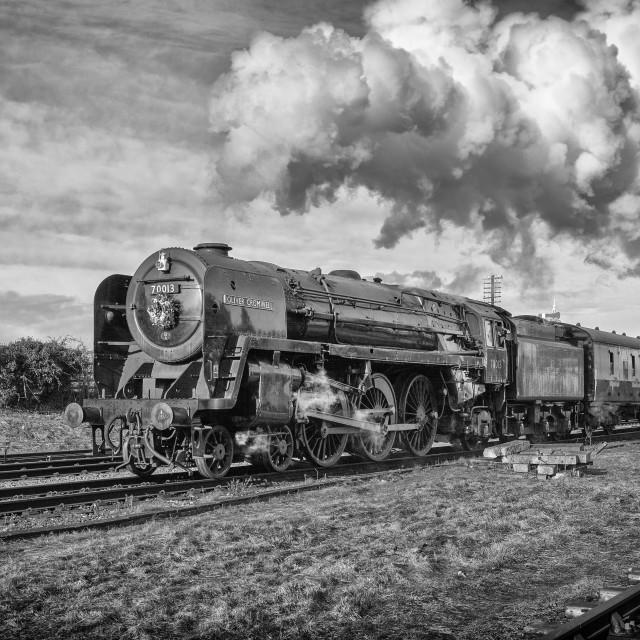 """""""Britannia Class No.70013 Oliver Cromwell"""" stock image"""