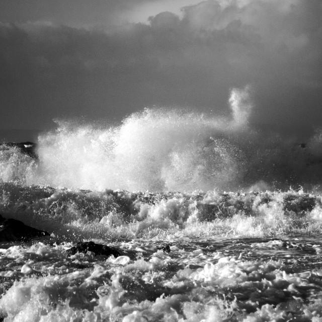 """Waves Erupt"" stock image"