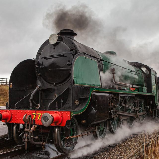 """""""King Arthur Class No.777 Sir Lamiel"""" stock image"""