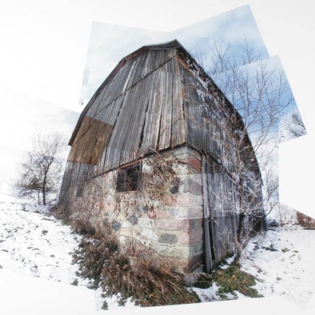 """Stitched barn"" stock image"