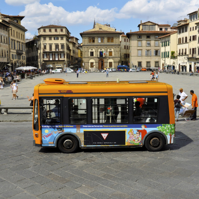 """Electric Bus, Florence"" stock image"