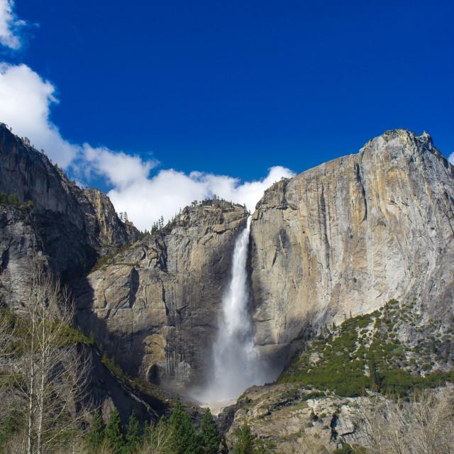 """Yosemite National Park, Ribbon Falls"" stock image"