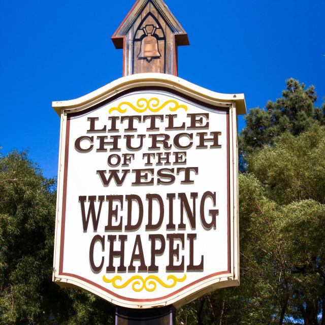 """Las Vegas Wedding Chapel"" stock image"