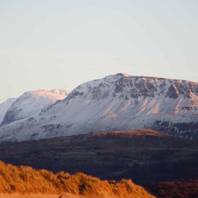 """Mountain at dusk"" stock image"