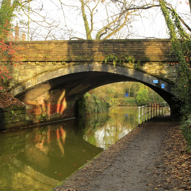 """Road Bridge over the Bridgewater Canal at Worsley"" stock image"
